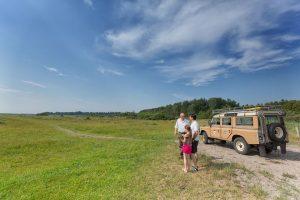 Land rover natuur safari door het Nationaal Park Lauwersmeer