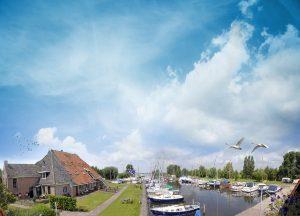Restaurant De Koevoet met terras aan het water Friesland