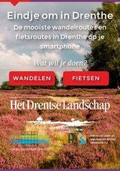De mooiste wandel- en fietsroutes in Drenthe op uw smartphone